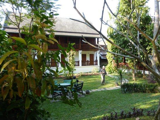 Villa Chitdara: vue du jardin