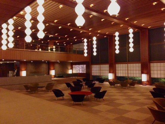 Hotel Okura Tokyo : Hotel Okura Main Lobby (night)