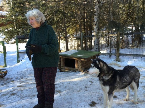 Alaskan Tails of the Trail with Mary Shields : Mary and her Husky