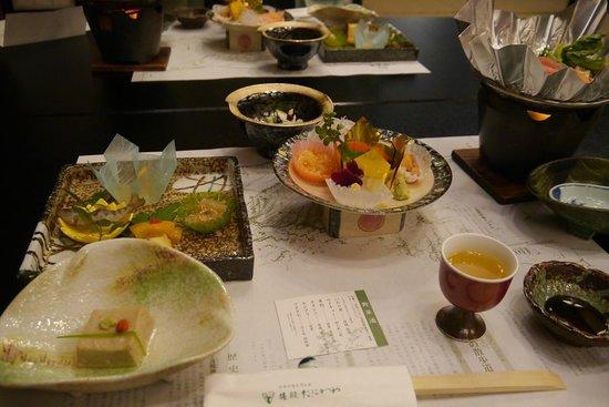 Ryokan Tanigawa: 夕食(メインは石狩鍋)
