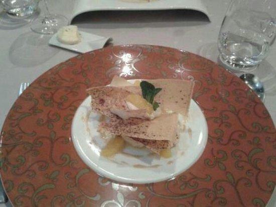 l'Ephemere : Feuille à feuille crème spéculos et orange ..bof