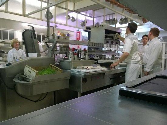 Restaurant Greuze : Ein Blick in die Küche