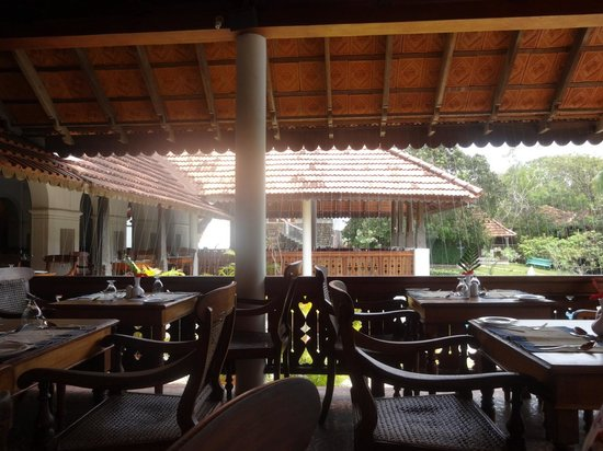 The Travancore Heritage Beach Resort: Le restaurant