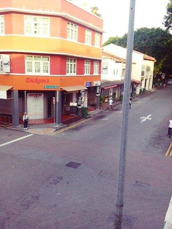 Footprints Hostel: pemandangan dari lt.2 (1)