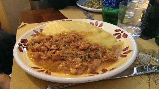Osteria Il Ciottolo: Polenta e baccalà