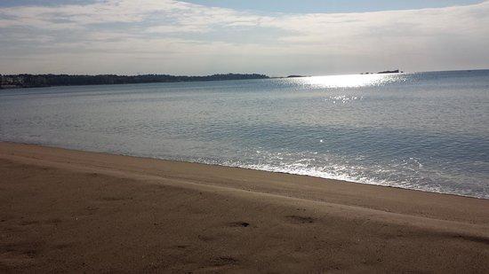 Hotel Saint Aygulf : plage face à l'hôtel