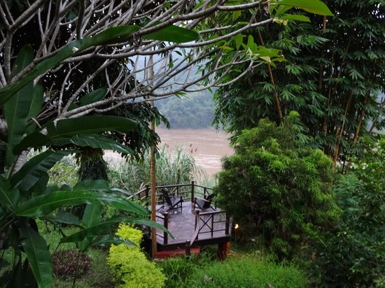 The Luang Say Lodge: Outdoor seating