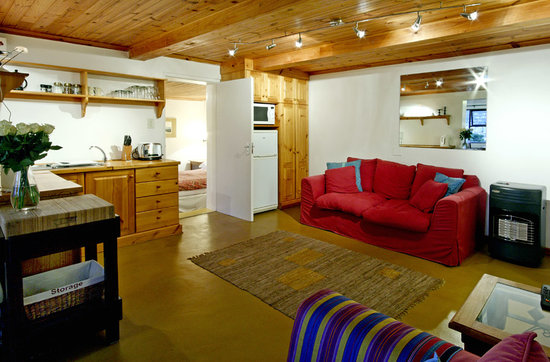 Clovelly, South Africa: Open plan lounge with fully equipped kitchenette