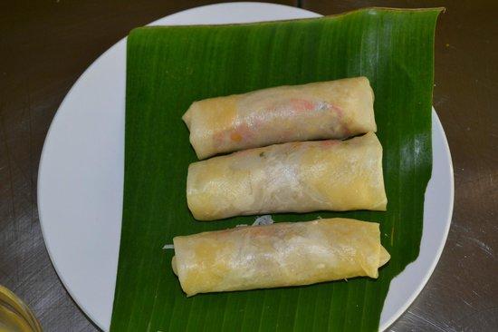 Sanur Beach Villas: Home made spring rolls