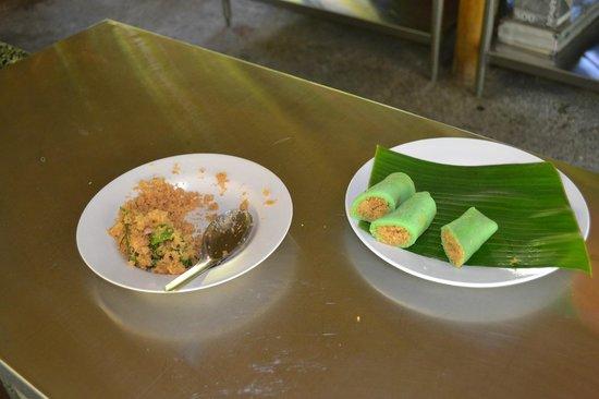 Sanur Beach Villas: Yummy green coconut pancakes