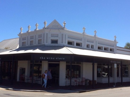 The Wine Store in East Fremantle. Nice place to gather but disappointing service.