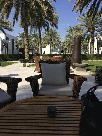 The Restaurant at The Chedi Muscat: The Chedi Gardens, for morning tea