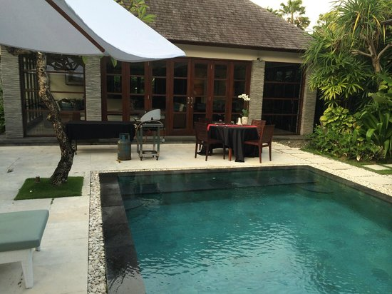 Peppers Seminyak: Set up for in villa BBQ
