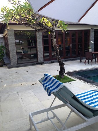 Peppers Seminyak: Deck chair view