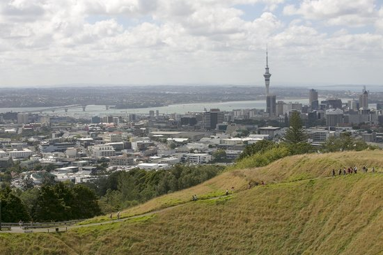 Mount Eden : View the peak into the crater