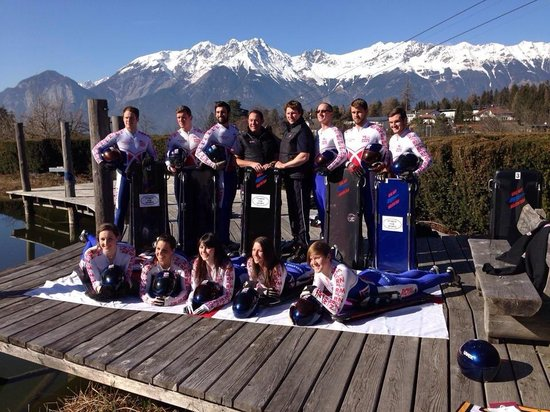 Hotel Gruberhof: Many thanks for the superb stay, from the Royal Navy's Skeleton Bobsleigh Team