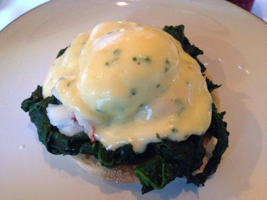 Village East: Lobster Benedict - perfect poached eggs!