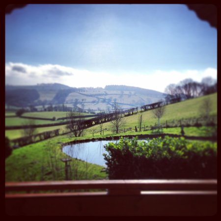 Luxury Lodges Wales: Our view from the top balcony