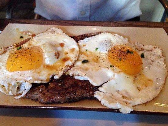 Village East: Steak and eggs