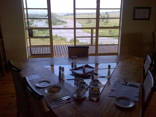 Rorke's Drift Hotel: breakfast view