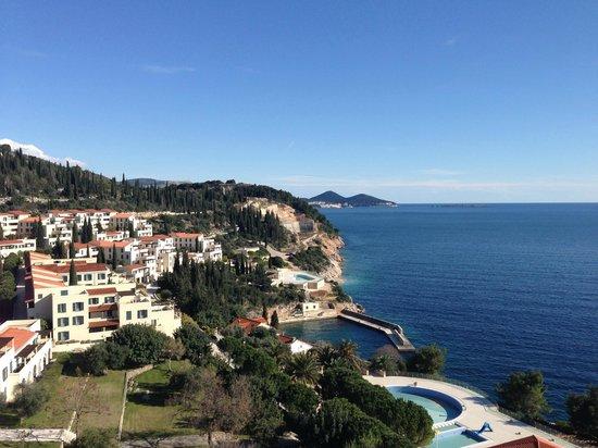 Radisson Blu Resort & Spa at Dubrovnik Sun Gardens: View over the resort