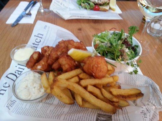 Fish 39 n chips foto van the seafood bar amsterdam for Seafood bar van baerlestraat amsterdam