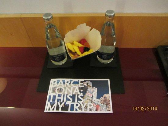 Tryp Barcelona Aeropuerto Hotel: Detalles de bienvenida