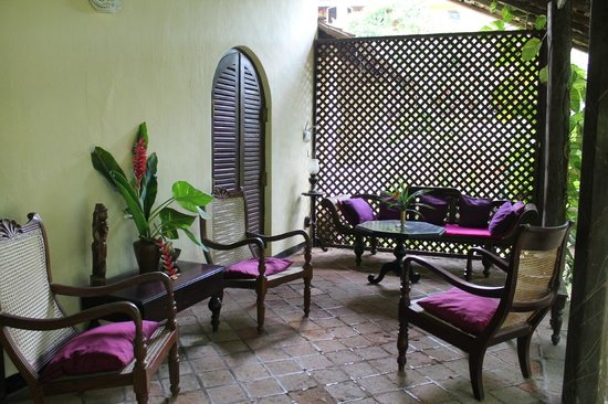 Secret Garden Villa: The porch outside my room