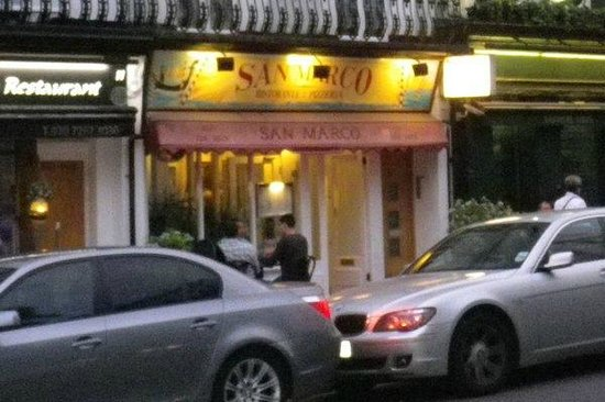 San Marco Ristorante: View of the restaurant from the street