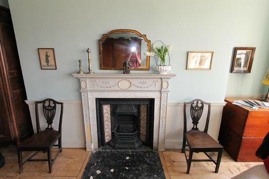 Pitt House: Beautiful Adam fireplace in bedroom