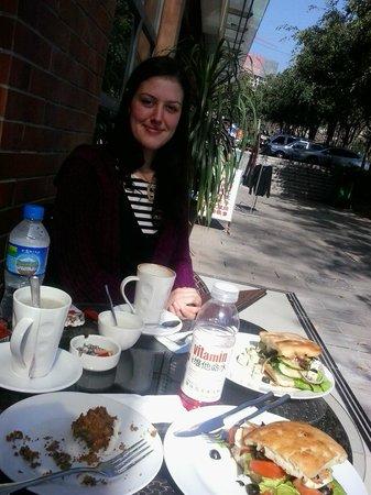 Slice of Heaven : Lunch outside