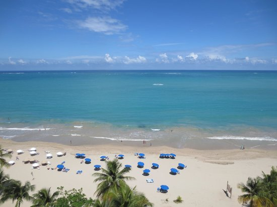 San Juan Water & Beach Club Hotel: view of the beach from the roof