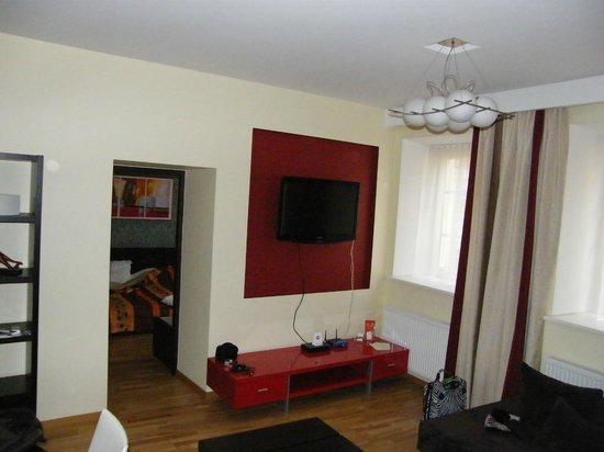 Rentida Apartments : vue du salon