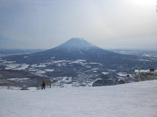 Niseko Village Ski Resort: The view from half-way up