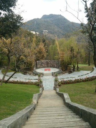 Ananda in the Himalayas: Amphitheatre where yoga classes are held