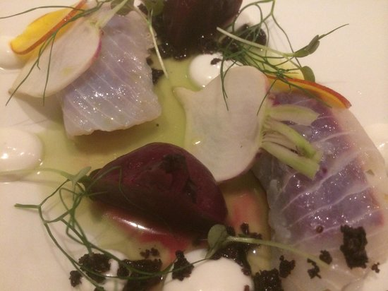 Harrison's Restaurant and Bar : Starter - Beetroot and cured Spanish Mackerel