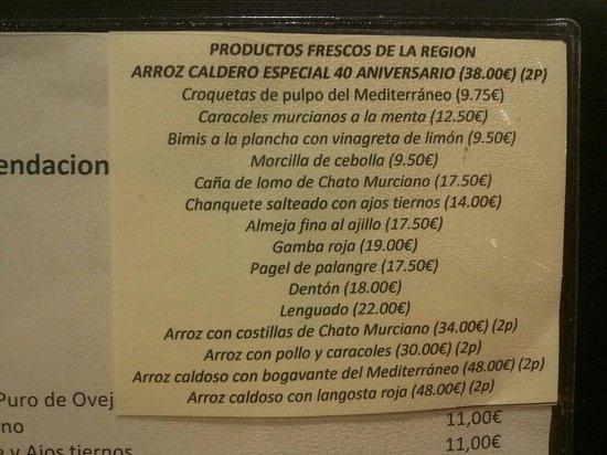 El Caldero: Productos frescos