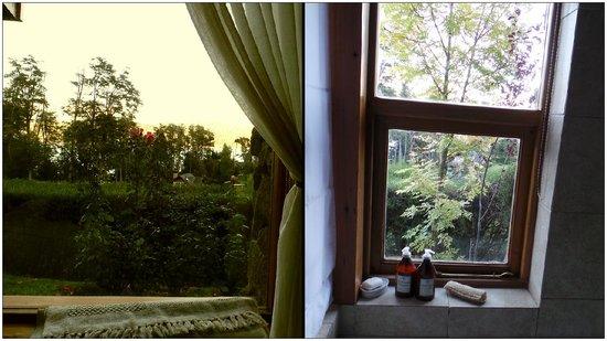 Colina del Manzano: Vista desde mi cama + vista desde el hidro