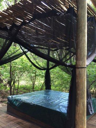 Shakawe River Lodge : Honeymoon suite day bed