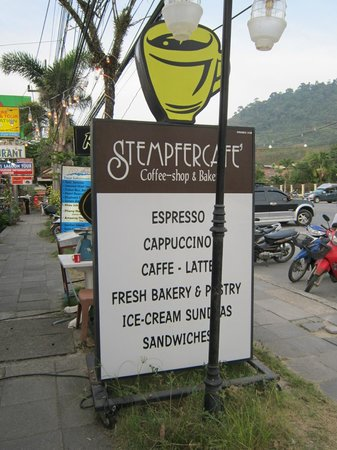 Stempfer Cafe: the sign
