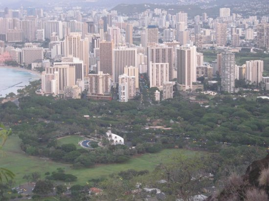 Maile Sky Court: View down from Diamond Head - you got to walk it!
