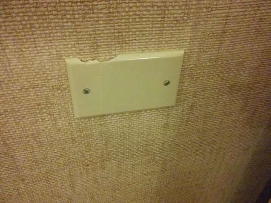 Millennium Buffalo : cracked wall outlet cover