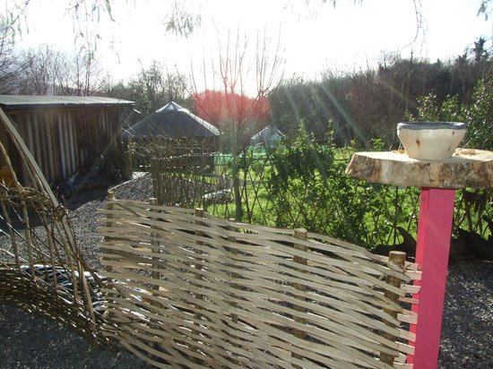 Ireland Glamping - Pink Apple Orchard: Looking Over the Grounds of Pink Apple Orchard from the children's play area.
