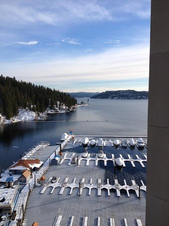 The Coeur d'Alene Resort: from our room on 11th floor