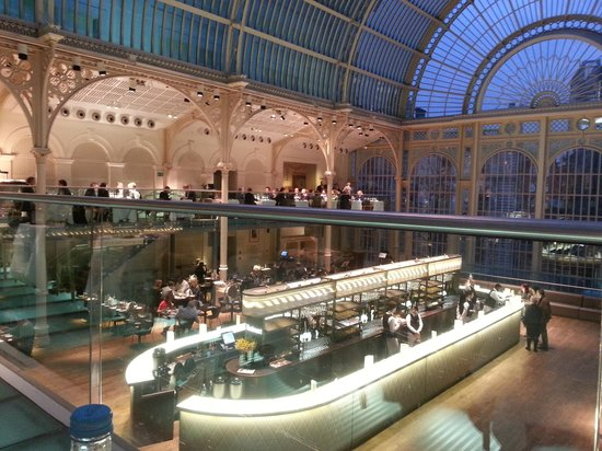 Picture of paul hamlyn hall balcony for Balcony restaurant bar