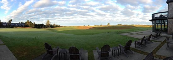 Bandon Dunes Golf Resort: View from the clubhouse of #18 Bandon Dunes