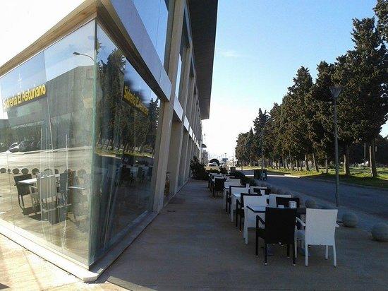 Sidreria El Asturiano : la terraza