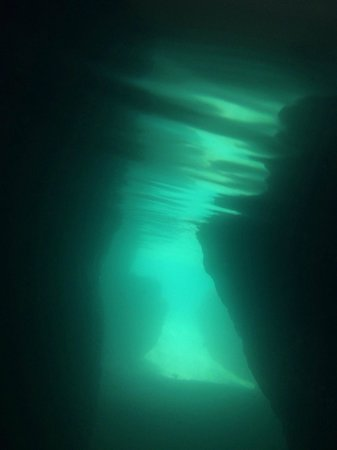 The Baths: Underwater pic in one of the caves