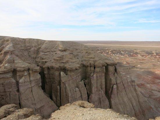 Omnogovi Province, Mongolia: Tsagaan Suvarga - Land Rainbow