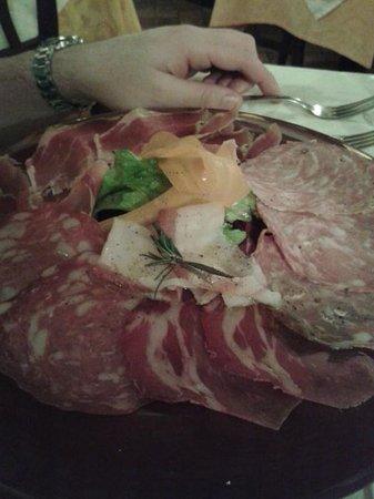 Mangiafuoco Bracerie: Salami appetizer